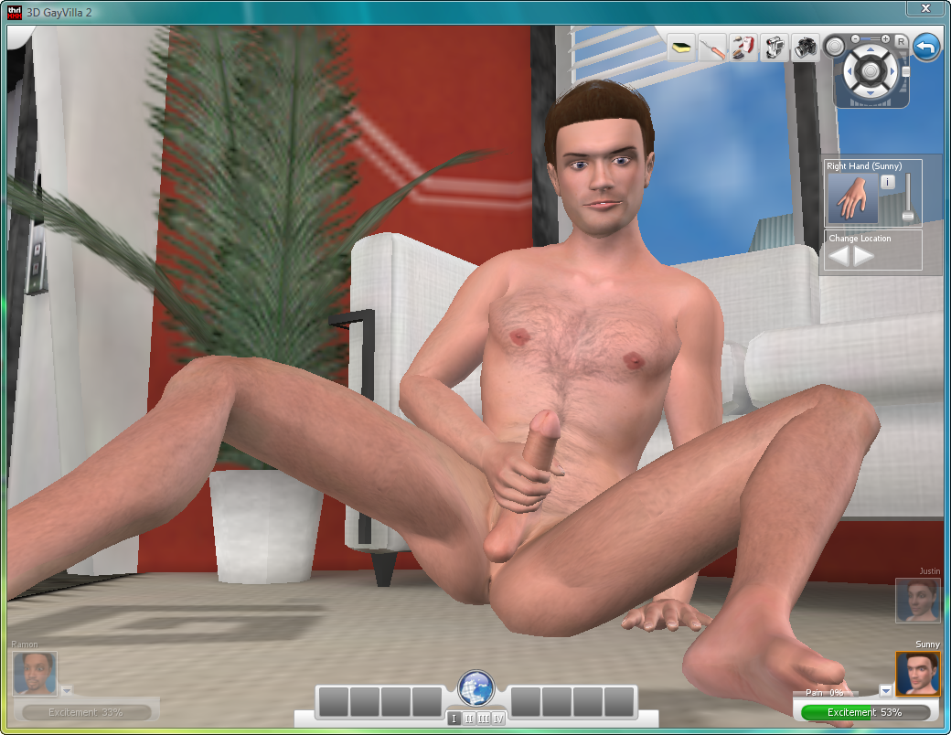3D GayVilla 2  Interactive Virtual Sex Simulations