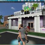 Dancing in the main resort