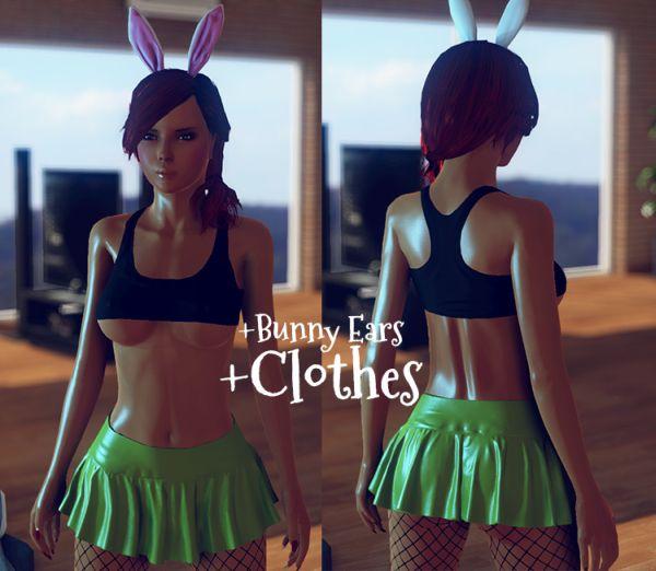 3DXChat Xmas updates bunny ears