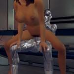 Future Love Space Machine Gina rides Cybot Mars