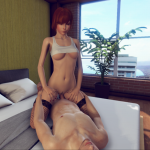 Sexy girl invited to room 3DXChat multiplayer mode