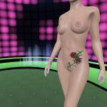 Virtual stripper teasing