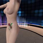 3D Gogo2 virtual stripper twirling