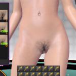 3D Gogo 2 pussy hair chooser