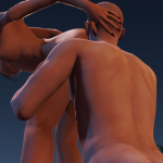 Sex on the beach in a 3DXChat shared users virtual world