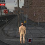 Standing naked on a street corner