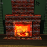 Night Party fireplace