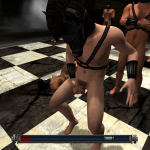 Chess piece masturbating whilst opponents fuck