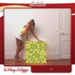 Sexy blonde Strip Sudoku girl
