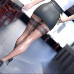 Sexy Blonde with long legs and stockings