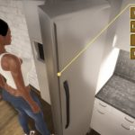 Checking the fridge in Sensual Adventures the Game
