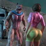 Doree meets the monster in her skin tight clothes