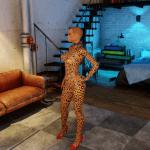 3DXChat leopard tattoos (female)