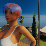 One of the four new 3DXChat female hairdos